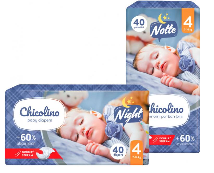 Подгузники Chicolino Night 4размер (7-14кг) 40 шт