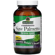 "Сереноя Nature's Answer ""Saw Palmetto"" для мужского здоровья, 690 мг (120 капсул)"