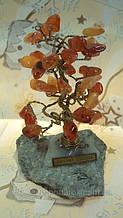 Грошове дерево з натуральними каменями висота 10см