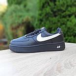 Женские зимние кроссовки Nike Air Force 1 AF1 Low низкие черные с мехом теплые 36-40рр. Живое фото. Реплика, фото 6