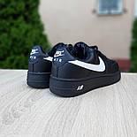Женские зимние кроссовки Nike Air Force 1 AF1 Low низкие черные с мехом теплые 36-40рр. Живое фото. Реплика, фото 3