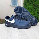 Женские зимние кроссовки Nike Air Force 1 AF1 Low низкие черные с мехом теплые 36-40рр. Живое фото. Реплика, фото 7