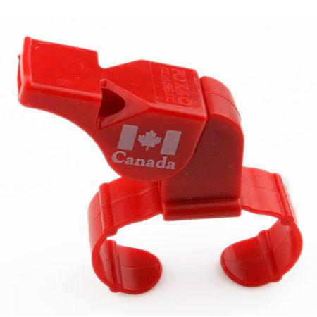 Свисток Fox 40, пластик, крепление на пальце, красный