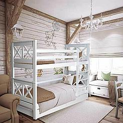 Кровать двухъярусная деревянная Лея (массив бука)