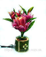 Светильник-ночник живой цветок высота 45см