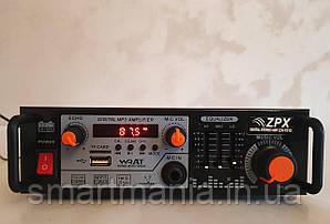 Підсилювач потужності звуку AMP ZX-1312, MP3 USB Micro SD, FM Bluetooth