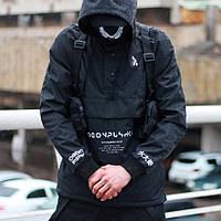 Ветровка-анорак мужская Пушка Огонь Ost черная
