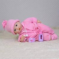 Кукла-пупс мягконабивная M 3880-6 UA пьет, спит, 40 см, личико с МИМИКОЙ!