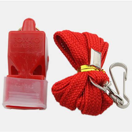 Свисток Fox 40, пластик, на шею, красный, фото 2