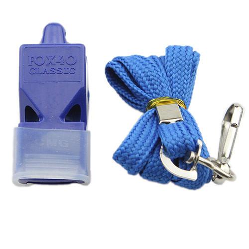 Свисток Fox 40, пластик, на шею, синий