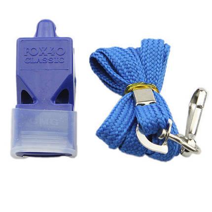 Свисток Fox 40, пластик, на шею, синий, фото 2