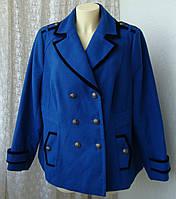 Пальто женское элегантное нарядное батал бренд South р.56 4017