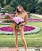 Женский замшевый брючный костюм с зауженными брюками и удлиненной рубашкой оверсайз 38st1420, фото 4