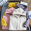 Женское плюшевое худи на флисе с ушками на капюшоне (размер 42-46) 77dm923, фото 10