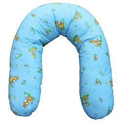 Подушка-обнимашка 100 % хлопок, наполнитель холлофайбер.
