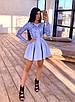 Короткое платье с пышной юбкой и верхом из сетки с узорами из пайеток 66ty1633Е, фото 8