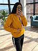 Женский теплый спортивный костюм на флисе с худи с карманом и капюшоном 66rt1103Q, фото 2