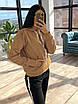 Женский теплый спортивный костюм на флисе с худи с карманом и капюшоном 66rt1103Q, фото 5
