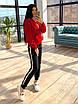 Женский теплый спортивный костюм на флисе с худи с карманом и капюшоном 66rt1103Q, фото 6