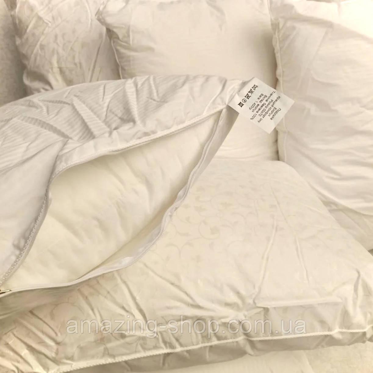 Подушка ЭКОПУХ 50х70 с наволочкой на замке 100% хлопок | Подушка для сна Антиаллергенная ОДА