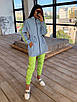 Женский спортивный костюм со светоотражающей ветровкой и штанами джоггерами (р. 42-44) 66rt1108Q, фото 3