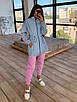Женский спортивный костюм со светоотражающей ветровкой и штанами джоггерами (р. 42-44) 66rt1108Q, фото 4