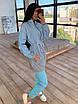 Женский спортивный костюм со светоотражающей ветровкой и штанами джоггерами (р. 42-44) 66rt1108Q, фото 6
