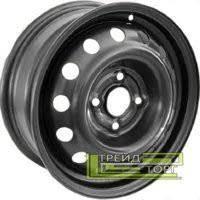 Диск колісний Renault Logan, Kangoo Clio 5.5x14 4x100 ET36 DIA60.1 Black чорний SKOV Steel Wheels