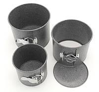 Формы для выпечки пасхи кексов A-PLUS 3шт мраморное покрытие