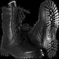 Ботинки Берцы НАТО зимние кожа + натуральный мех цвет черный с 36 по 44