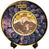 Японская сувенирная тарелка «Журавли и гора Фуджи»