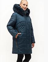 Зимова куртка з натуральної хутряною опушкою, з 54-70 розмір