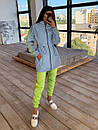 Женский спортивный костюм со светоотражающей ветровкой и штанами джоггерами (р. 42-44) 66spt1108Q, фото 3