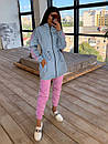Женский спортивный костюм со светоотражающей ветровкой и штанами джоггерами (р. 42-44) 66spt1108Q, фото 4