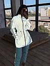Женский спортивный костюм со светоотражающей ветровкой и штанами джоггерами (р. 42-44) 66spt1108Q, фото 5