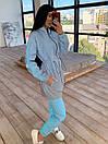 Женский спортивный костюм со светоотражающей ветровкой и штанами джоггерами (р. 42-44) 66spt1108Q, фото 6