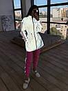 Женский спортивный костюм со светоотражающей ветровкой и штанами джоггерами (р. 42-44) 66spt1108Q, фото 7