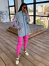 Женский спортивный костюм со светоотражающей ветровкой и штанами джоггерами (р. 42-44) 66spt1108Q, фото 8