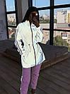Женский спортивный костюм со светоотражающей ветровкой и штанами джоггерами (р. 42-44) 66spt1108Q, фото 9