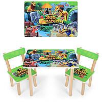 "Набор мебели - столик и 2 стульчика ""Зоопарк"""