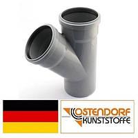 Тройник PP 110/110х45 внутренней канализации Ostendorf HT Германия