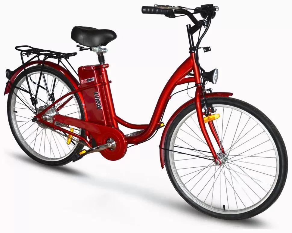 Електровелосипед SkyBike LIRA - 2018 червоний синій