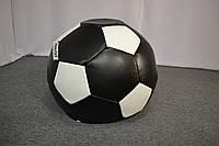 Кресло мешок мяч Экокожа XL (90 см), Черный, Белый