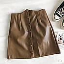 Женская кожаная юбка выше колена с поясом и кошельком (р. 42-44) 83jus437, фото 2