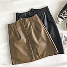 Женская кожаная юбка выше колена с поясом и кошельком (р. 42-44) 83jus437, фото 5