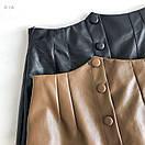 Женская кожаная юбка выше колена с поясом и кошельком (р. 42-44) 83jus437, фото 6