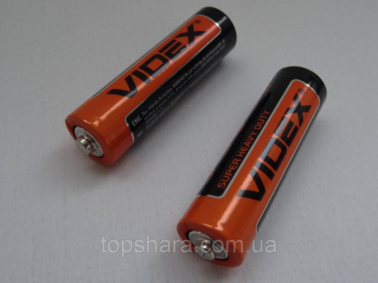 R6P Батарейки Videx AA, солевые  1.5V  (2 шт)