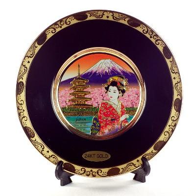 Японская сувенирная тарелка «Чудесная Япония»
