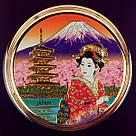 Японская сувенирная тарелка «Чудесная Япония», фото 2