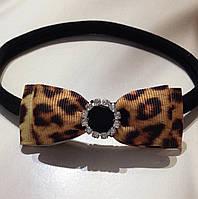 Эластичная бесшовная повязочка для новорожденных и маленьких принцесс Леопардовая Подарок девочке